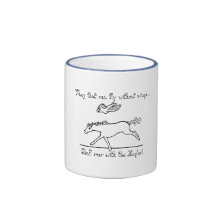 Curly Horse soaring with an Eagle Ringer Coffee Mug