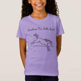 Curly Horses Sometimes Have to Buck T-Shirt