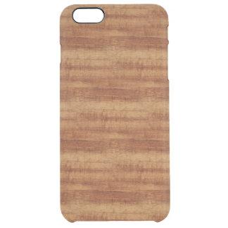 Curly Koa Acacia Wood Grain Look Clear iPhone 6 Plus Case