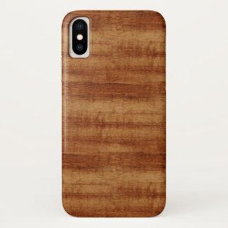 Curly Koa Acacia Wood Grain Look iPhone X Case
