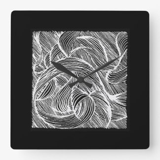 Curly LINEs Square Wall Clock