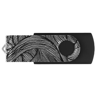 curly LINEs USB Flash Drive