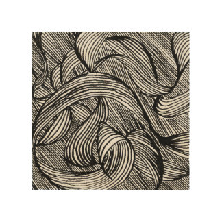 curly LINEs Wood Wall Art