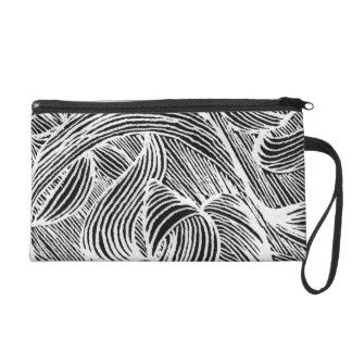 curly LINEs Wristlet