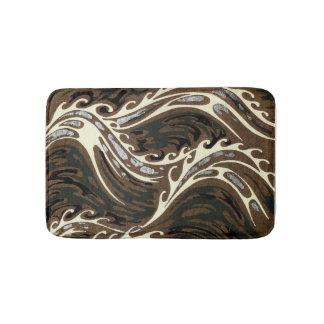 Curly Ocean Waves Bath Mat