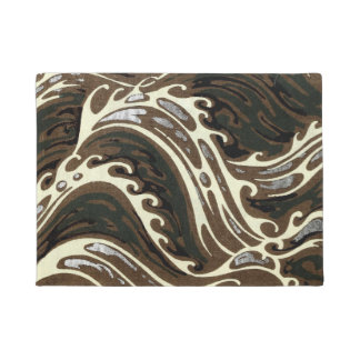 Curly Ocean Waves Doormat