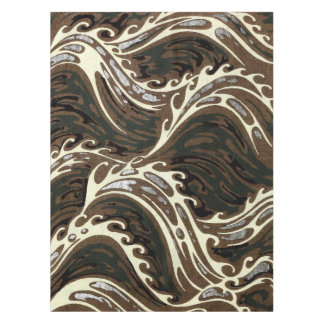 Curly Ocean Waves Tablecloth
