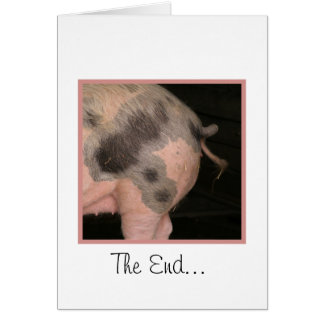 Curly Piggy Tail Card