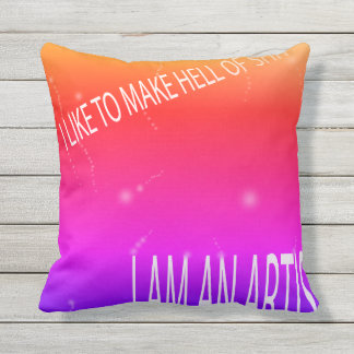 Curly Proud I Throw Pillow