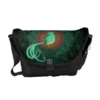 Curly Quetzal Messenger Bag