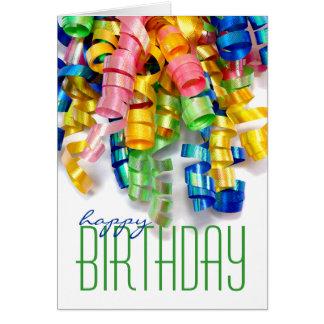 Curly Ribbon Birthday Cards