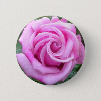 Curly Rose 2 Inch Round Button