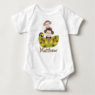 Curly Tails Monkey Baby Creeper T-Shirt