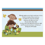 Curly Tails Monkey Friends Favour Tag/Request card Pack Of Chubby Business Cards