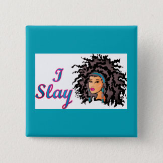 "CURLZ ""EMILY I SLAY"" 2 INCH SQUARE BUTTON"