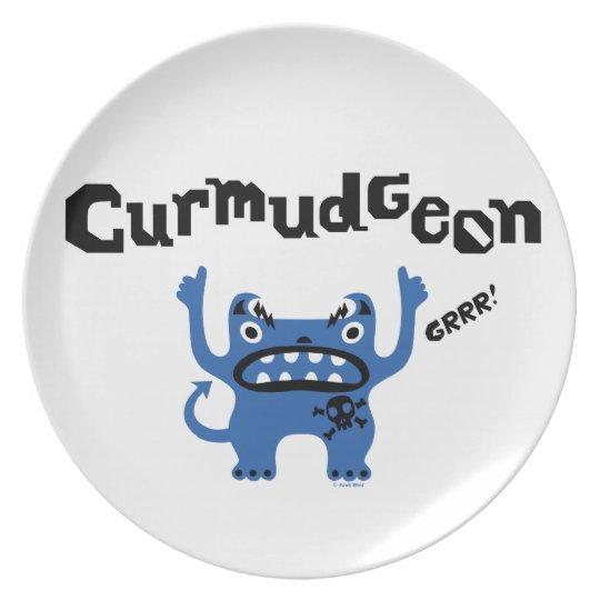 Curmudgeon - melamine plate