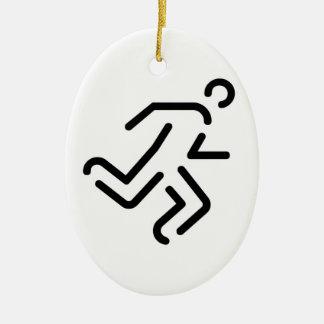 current man running one ceramic ornament