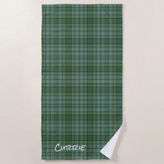 Currie Clan Tartan Plaid Beach Towel