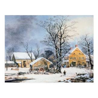 Currier démodé et carte de Noël d'Ives Cartes Postales