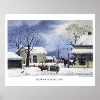 Currier et lithographie d'Ives : Maison au Poster