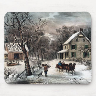Currier & Ives American Homestead Winter Mousepad
