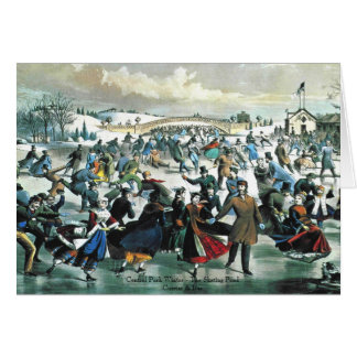 Currier & Ives - Greeting Card - Central Park Pond