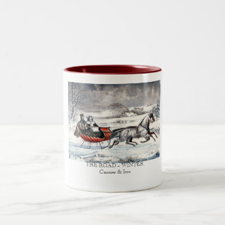 Currier & Ives - Mug - THE ROAD, WINTER