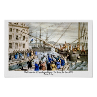 Currier & Ives - Poster - The Boston Tea Party