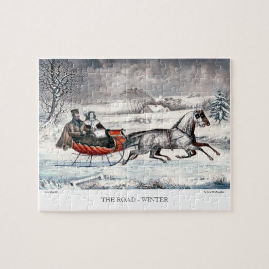 Currier & Ives Puzzle - The Road, Winter