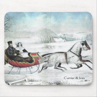 Currier & Ives The Road Winter Mousepad