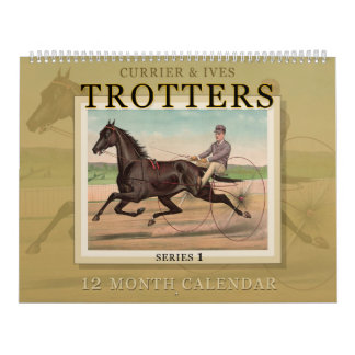 Currier & Ives Trotters Horse Racing Calendar