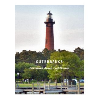 Currituck Beach Light Letterhead Template