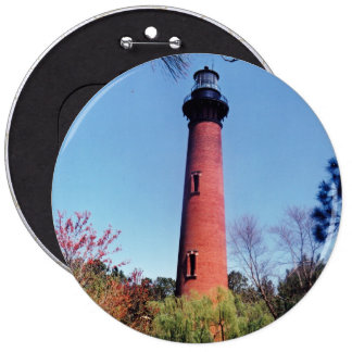 Currituck Lighthouse 6 Inch Round Button