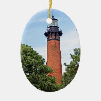 Currituck Lighthouse Ceramic Ornament