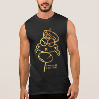 Curry Fish Ball | Black Men Sleeveless T-shirt