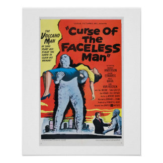 Curse of the Faceless Man Poster