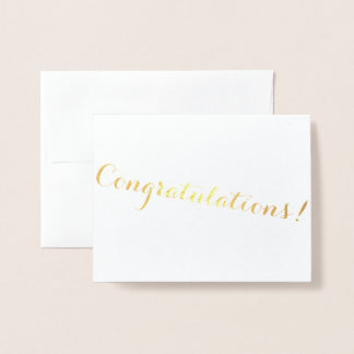 Cursive Foil Congratulations Foil Card