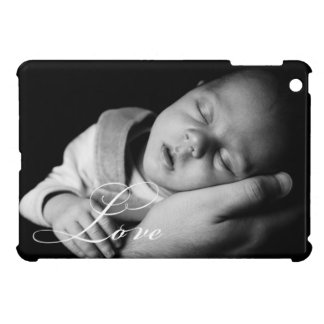 Cursive LOVE elegant personalize your own photo iPad Mini Covers