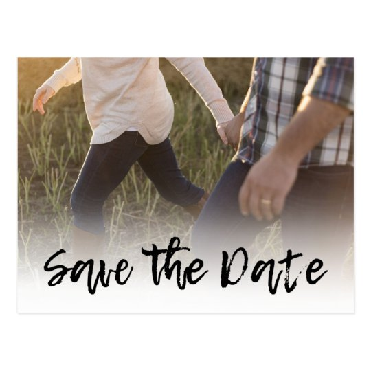 Cursive Photo Wedding Invitations | Save the Date!
