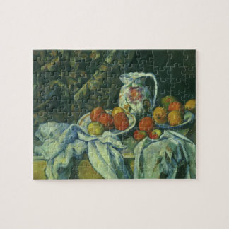 Curtain and Flowered Pitcher by Paul Cezanne Jigsaw Puzzle