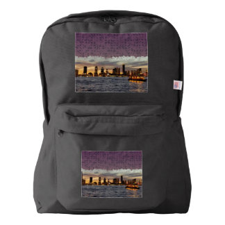 Curtain coming down backpack