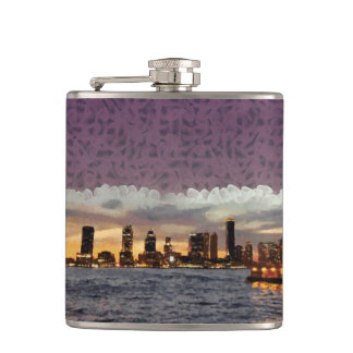 Curtain coming down hip flask
