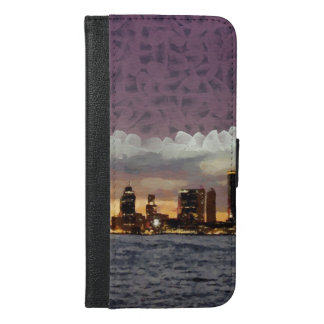 Curtain coming down iPhone 6/6s plus wallet case