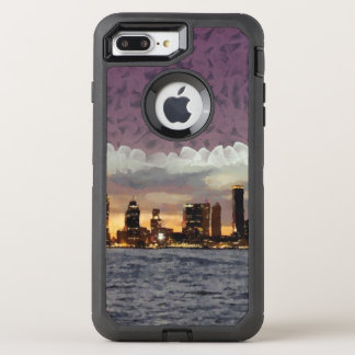 Curtain coming down OtterBox defender iPhone 8 plus/7 plus case