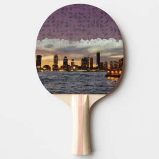 Curtain coming down ping pong paddle