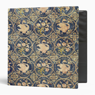 Curtain decorated with swans and fleur-de-lys 3 ring binders