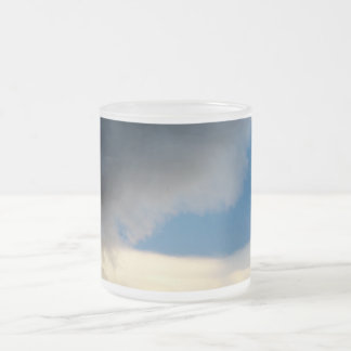 curtain of clouds frosted glass coffee mug