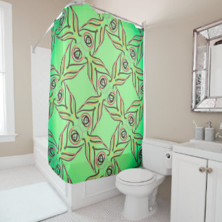 Curtain of shower Jimette Design red yellow green