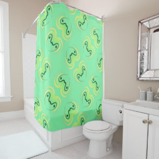 Curtain of shower Jimette Design yellow and green