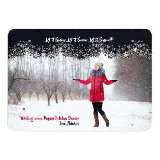 Curtain of Snow Photo Horizontal Card